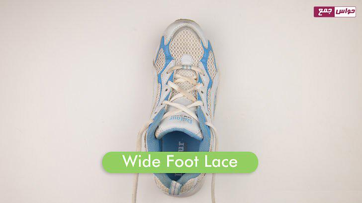 شل کردن بند کفش برای پاهای پهن