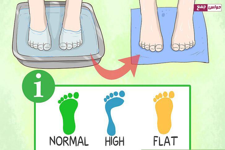 مشخص کردن ارتفاع قوس پا برای خرید کفش ورزشی کودک